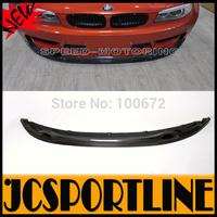 3D Style E82 1M Carbon Fiber Front Bumper Lip Spoiler For BMW (Fit For Bmw E82 1M Bumper 2012UP)