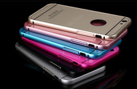 Luxury 0.5mm Ultra Thin Aluminum Metal + Acrylic Back Case Cover For iphone 6 4.7 Inch Phone Cases For iphone6