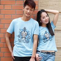 Original design 100% cotton o-neck lovers short-sleeve T-shirt a30
