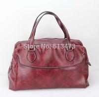 "H019(red) women messenger bag ,Shoulder straps adjustable & detachable,12 different colors,13 x 6 x 9.3"",Free shipping!"