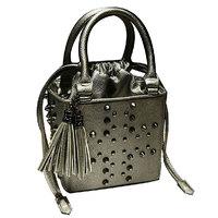 Fashion hiphop street fashion vintage tassel rivet one shoulder handbag shaping female bags women's handbags