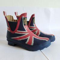 Fashion design 2014 short rain boots rainboots water shoes lovers design