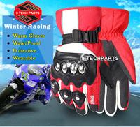 Pro-biker Motorcycle Racing Gloves Winter Outdoor Sports Warm 100% Waterproof Windproof unisex Fashion Gloves Protective Gear
