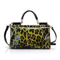 Women's handbag 2014 fashion waterproof vintage leopard print leather bag handbag messenger bag