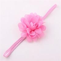 discount selling summer baby chiffon flower elastic headband