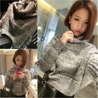 Free Shipping NAVA Women's Fashion Turtleneck Sweater Pullover Sweater