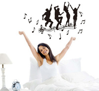 Free Shipping Removable Vinyl Wall Sticker New Arrival Enjoy Music Dance Boys And Girls Wall decals
