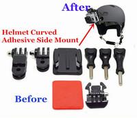 Go Pro Accessories Set Helmet Tripod  3-Way Adjustable Pivot Set Curved Adhesive Side Mount Adapter GP18 for GoPro Hero 3+/3/2/1