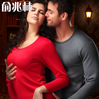 Thermal underwear plus velvet thickening male women's body shaping set thermal underwear male long johns long johns set