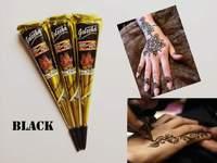 3pcs/lot 25g Temporary tatoo Black Henna Tattoo india for body tatouage temporary Paste Tube Cone body art painting products