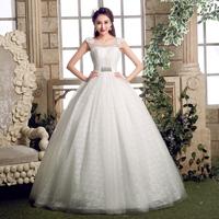 Crochet Elegant Women Autumn Winter Formal Crystal Beading Lace Up Bride Ball Gown Bridal diamond 2014 Tank Wedding Dress LF393