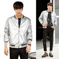 2014 new winter mens bomber jackets and coats for men slim silver baseball jackets designer clothes
