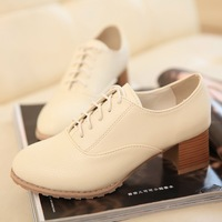 Women's shoes 2014 thick heel high-heeled shoes deep mouth single shoes female lacing shoes autumn shoes 1WS053
