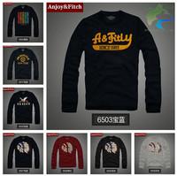 Free shipping Hot 2014 new fashion men's T-shirt 100% cotton High-quality men tshirt printing embroidery Long-sleeved S --3XL