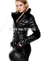 New arrival 2014 women fashion warm thick winter white duck down jacket outerwear coat black velvet patchwork  plus size coats