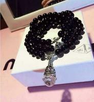 925 silver natural stone 4 women's bracelet