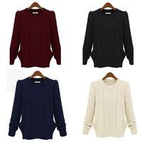 Women Crochet Knitwear Lady Knitted Pullover Sweater Jumper Outwear