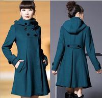 Autumn and winter women wool coat medium-long slim plus size women's woolen outerwear