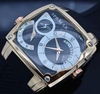 Excellent Quartz Watch Men Top Brand Luxury SPEATAK Sports Watches Dual Time Display Calendar Rubber WristWatch Relogio Clock