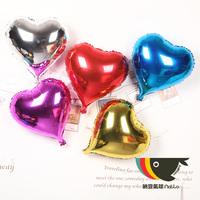 """10"""" Heart Balloon Aluminum balloon wedding supplies aluminum balloon colored heart shaped aluminum balloon"""