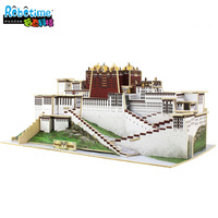 Science Technology Educational Toys Wooden  3D Puzzles The Potala Palace Woodiness Model Building Kits