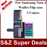 1pcs Hot sale phone cases PU Leather Weave Structure Full Frame Card Slot bag Wallet Folded Case for Samsung Galaxy Note 4