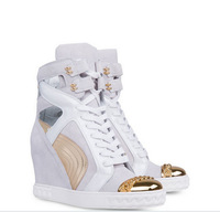 2014 New arrival steel toe sneakers high-top sneakers wedges shoes top quality increased internal shoes