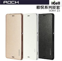 Original Rock Brand Delight Series Flip Leather Case For Sony Xperia Z3 (L55) ,With Retail Package 10pcs/lot Free shipping