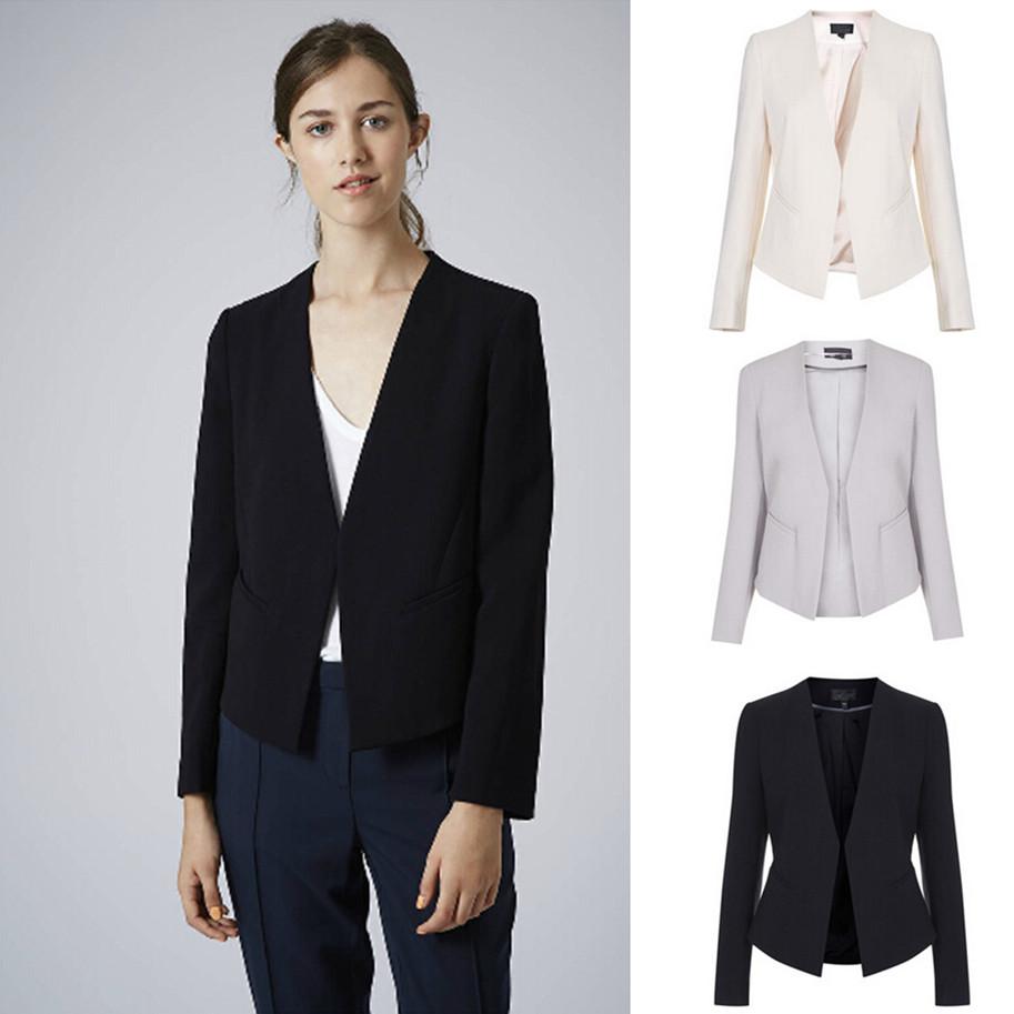 Blazer women winter blaser ladies blazer feminino 2014 autumn chaquetas mujer casual jackets cardigans Plus size clothing (China (Mainland))