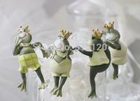 Free shipping(4 Pcs) Garden decoration resin frog garden ornaments gadget figure flower pots decor novelty households crafts