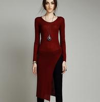 2014 women's high quality slim medium-long long-sleeve sweater pullover sweater female