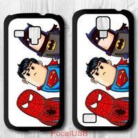 5 pcs Lovely Super Hero Protective Plastic Cover Case For Samsung Galaxy S4 mini / S3 mini P723 (White: S4, Black: S3)