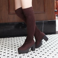 2014 Hot Sale Women's Knee-High Boot,Female Autumn&Winter Suede Leather Boot,Fashion Solid Women's Shoes, Drop Shipping ,XWX1492