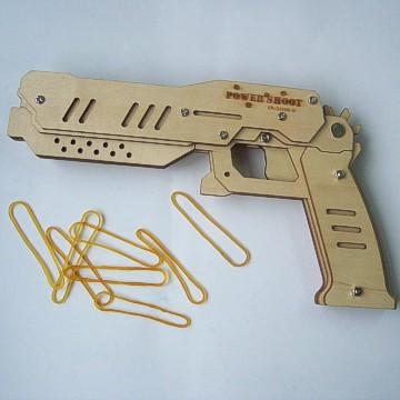 2014 niños diy juguete pistolas madera suave balas& diversión al ...