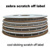 Zebras Sticky  Scratch off label 8*40mm