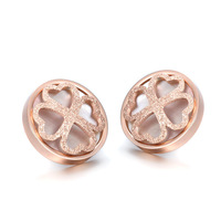Stud earrings Gem-stone jewelry New Arrival plating 18K gold Luxury Earrings For Women fashion brand jewelry  YFSCE063