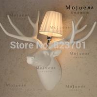 Vintage deer wall lamp american rustic project light ktv aisle lights resin lamp d