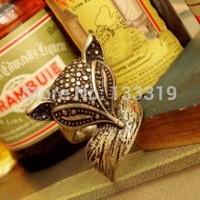 Enchanting cute little fox retro ring ring   Free shipping