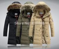 New Winter Coats Christmas Long Down Fur Hoodie Warm Coat Thickening Padded Park Detachable Cap Men Jaquetas de Couro Masculina