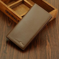 Pure fashion men wallet long carteira purse 2014 new top quality PU leather wallets retail free shipping