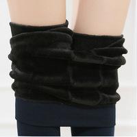 2014 Women Bamboo inside Thicken Fur Warm Leggings womens winter clothes plus size pants hot sale 6 color