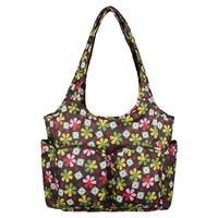 Fashion Mommy Durable Shoulder Dipaer Bags Candy Color Flower Printed Baby bags Portable Mommy Bag For Baby