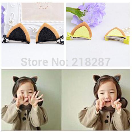 Free Shipping!40pcs/lot New Baby kid's Shiny Rabbit Animal Hair Clips Girls Hairclips Children Accessories(China (Mainland))