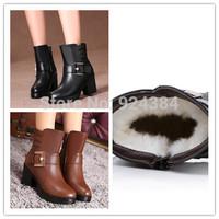 bottes femmes 2014 genuine leather women snow boots ladies boots bottine femme ,woman winter shoes  furry boots  emu aisimi