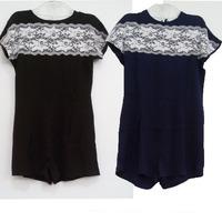 Macacao Feminino E Macaquinhos 2014 New Women Lace Jumpsuit Bodysuit Plus Size Slim Jumpsuit Backless Lace Patchwork Rompers