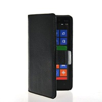 High Quality Card Slot Stand Movie Litchi Wallet Side Flip Leather Pouch Case Protector For Nokia Lumia 820