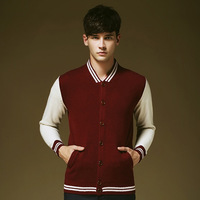 Free shipping v neck single-breasted mens cardigan sweater with pocket autumn spring winter men's clothing patchwork ropa hombre