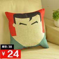 Fluid pillow kaozhen sofa cushion cover super man