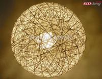Free shipping Simple rattan ball of wool single head handmade rattan balls chandelier twine Ball Pendant