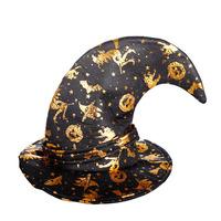 Fun Halloween masquerade costume points Halloween activities pumpkin elbow Wizard Hat Witch Hat
